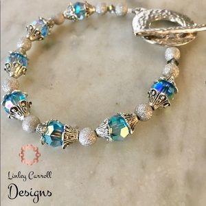Jewelry - Aquamarine Aurora Borealis Swarovski Bracelet